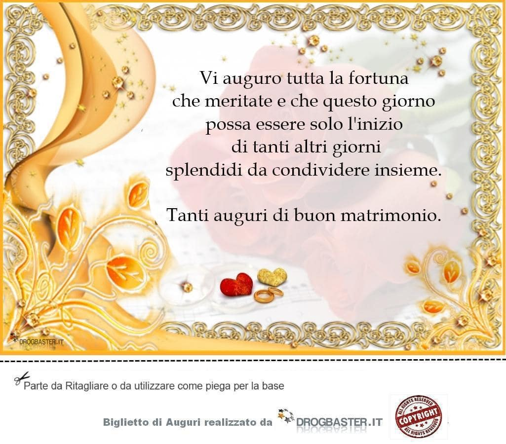 Auguri Di Buon Matrimonio : Auguri matrimonio da stampare gratis