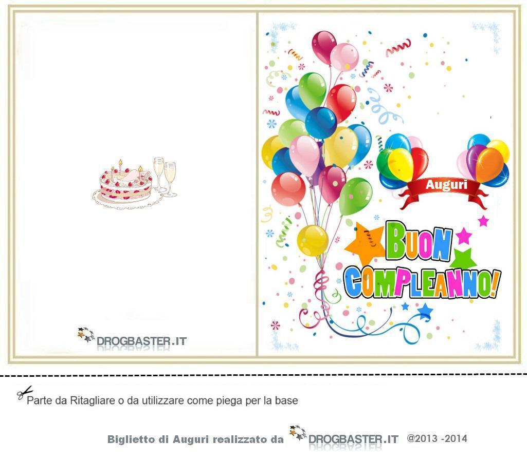 Auguri Matrimonio Per Nipote : Biglietto da stampare gratis in occasione del compleanno